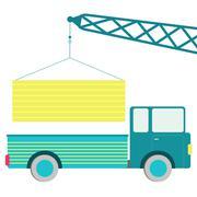 load truck - stock illustration