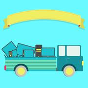 truck with electronics - stock illustration