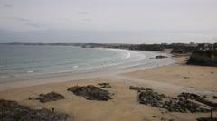 Newquay Towan beach North Cornwall England UK Stock Footage