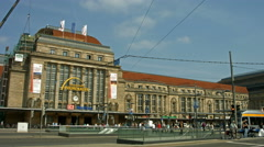 Leipzig, Germany, main station Stock Footage