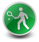 Icon, button, pictogram tennis Stock Illustration