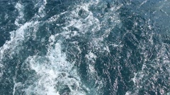 Astern view on the sea Stock Footage