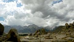 Mountain timelapse - Sierra Nevadas from the Alabama Hills Stock Footage