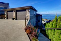 Real estate in tacoma with beautiful puget sound view Stock Photos