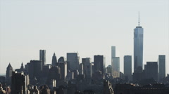 Wide shot of cityscape / New York City, New York, United States Stock Footage
