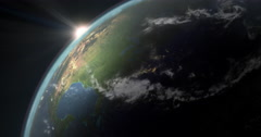 4k animation of earth, featuring north america, Stock Footage
