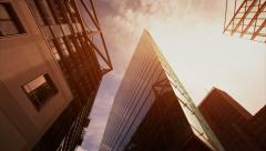 Modern business corporate building with timelapse clouds in Full HD 1080p Stock Footage