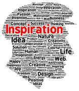 Inspiration word cloud shape Piirros