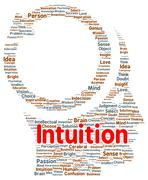 Intuition word cloud shape Stock Illustration