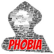 Stock Illustration of phobia word cloud shape