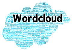 word cloud shape - stock illustration
