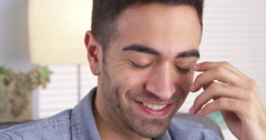 Happy Puerto Rican smiling and laughing Stock Footage