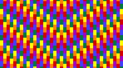 Moving rainbow colored segments in seamless loop 34 Stock Footage