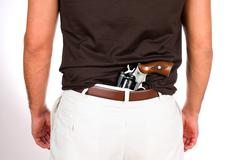Concealed weapon Stock Photos