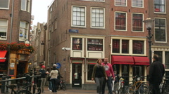 Prostitution windows/rooms in Amsterdam Stock Footage