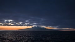 Dawn with Pico volcano in front, Magic Lantern RAW video Stock Footage