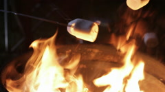 Roasting Marshmallows Stock Footage