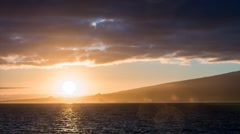 Bright sunrise in the Azores at Pico island, Magic Lantern RAW video - stock footage