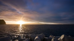 Sunrise between Faial and Pico islands in the Azores, Magic Lnatern RAW video Stock Footage