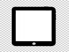 Animated iPad illustration whiteboard sketch drawing hand drawn - stock footage
