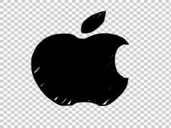 Animated Apple icon sign logo illustration whiteboard sketch drawing hand drawn Stock Footage