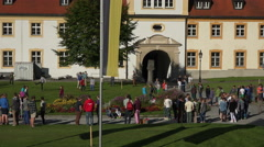 Ettal Abbey Benedictine Monastery students 4K 009 Stock Footage