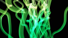 Green Tentacles fluo animation Stock Footage