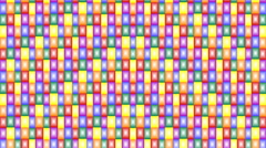 Moving rainbow colored segments in seamless loop 42 Stock Footage