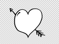 Animated Heart illustration whiteboard sketch drawing hand drawn - stock footage