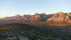 Red Rock Canyon Dawn - Las Vegas Nevada Stock Footage