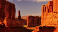 Arches Timelapse 10 Zoom Out Park Avenue Courthouse Towers Sunset Utah USA HD Footage