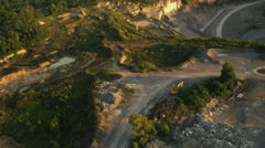 Quarry Wide Fly Over Stock Footage
