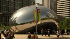 Cloud Gate The Bean - stock footage