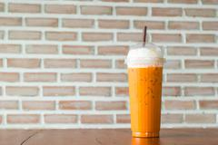 iced blended cappuccino - stock photo