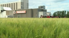 Budweiser Malting Plant Stock Footage