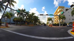 4k collins avenue drive 2 Stock Footage