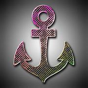 Metal anchor - stock illustration
