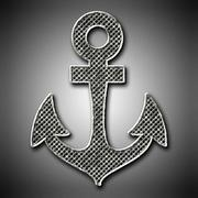 Metal anchor  Stock Illustration