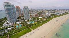 4k aerial south beach Stock Footage