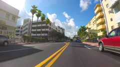 4k video Collins Avenue driving Stock Footage