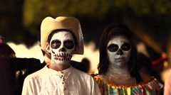 Day of the death Mexico Stock Footage