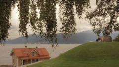 House on the lake Stock Footage