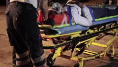 Paramedics in accident Stock Footage