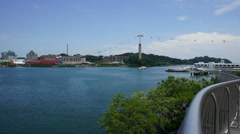 Panoramic Timelapse of Sentosa island from Vivocity, Singapore Stock Footage