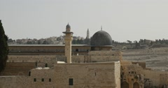 Jerusalem - Old City - Al-Aqsa Mosque - 24P - Cinematic DCI 4K - stock footage