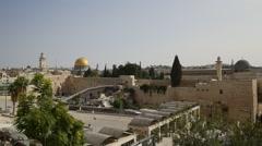 Jerusalem - Old City - Western Wall - 1920 X 1080 HD Stock Footage