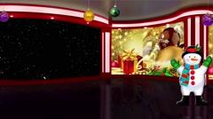 Christmas TV Studio Set 02 - Virtual Green Screen Background Loop Stock Footage