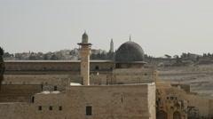 Jerusalem - Old City - Al-Aqsa Mosque - 25P - UHD 4K Stock Footage