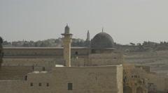 Jerusalem - Old City - Al-Aqsa Mosque - 25P - UHD 4K - Flat Stock Footage