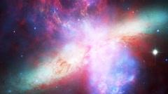 189 Starburst Galaxy Messier 82, 4K Stock Footage